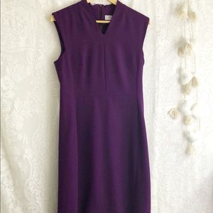 MM Lafleur purple midi dress sz 10